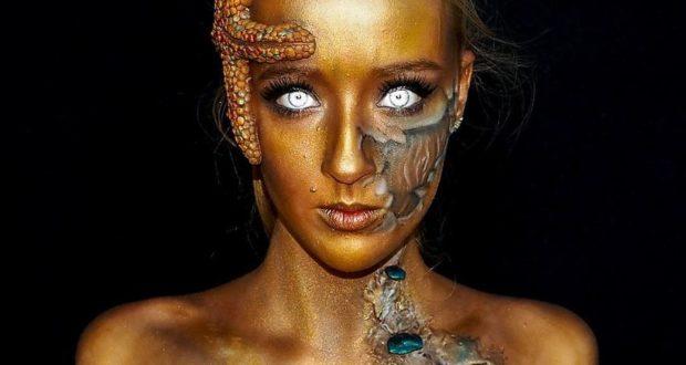 Арт макияж в виде монстров-1