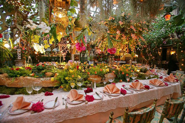 цветочный ресторан Mas Proven?al_2