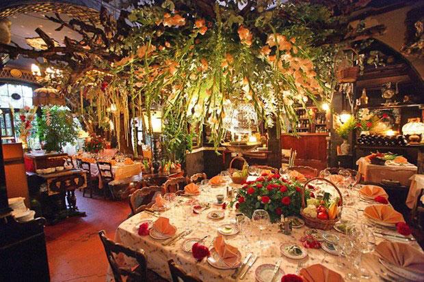цветочный ресторан Mas Proven?al_3