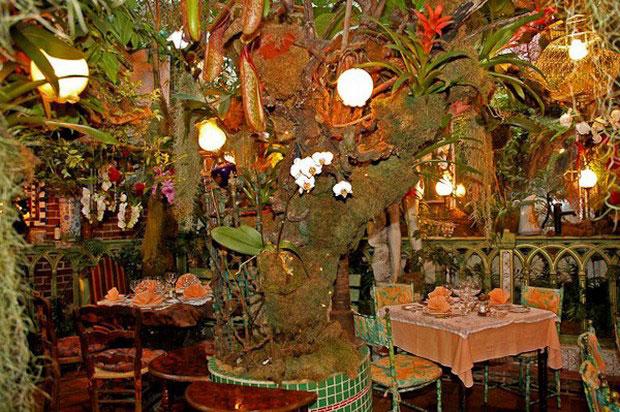 цветочный ресторан Mas Proven?al_6