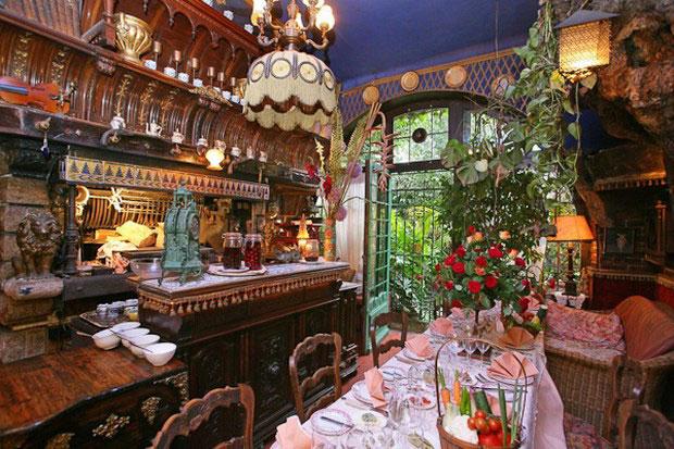цветочный ресторан Mas Proven?al_7