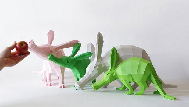 бумажные скульптуры-13