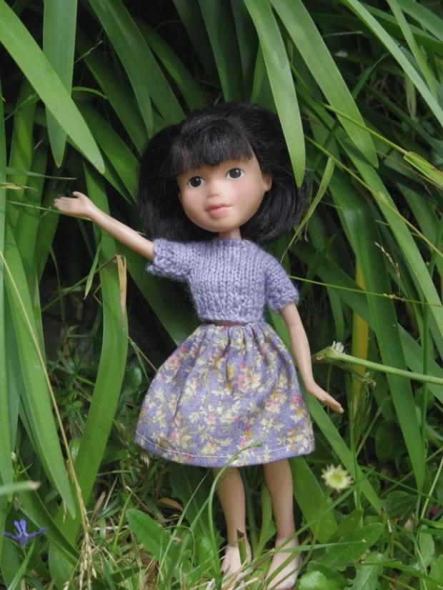 Кукла Барби с макияжем и без него-5