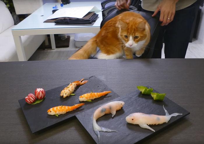 Суши в виде рыбок-8