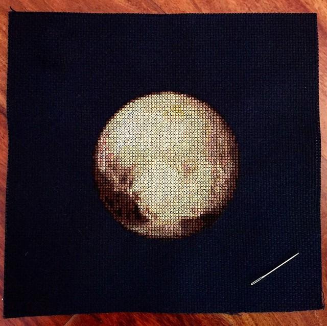 Вышитая крестиком Solar System-5