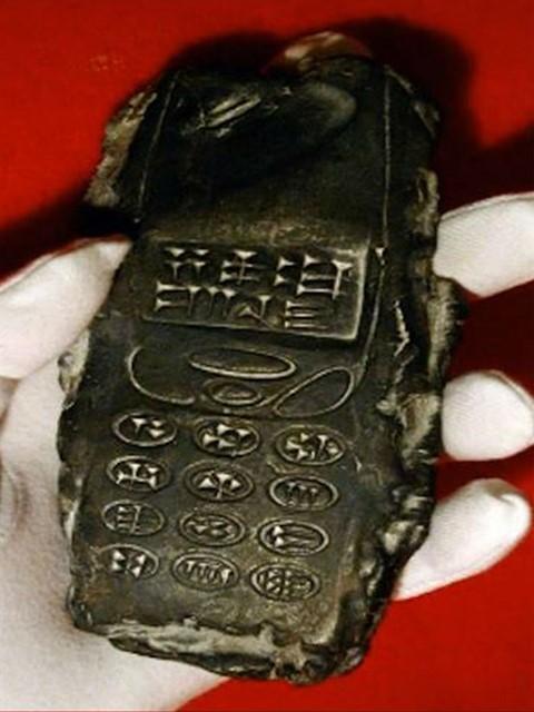 Глиняная копия смартфона-1