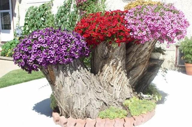 Вазоны для сада своими руками-7