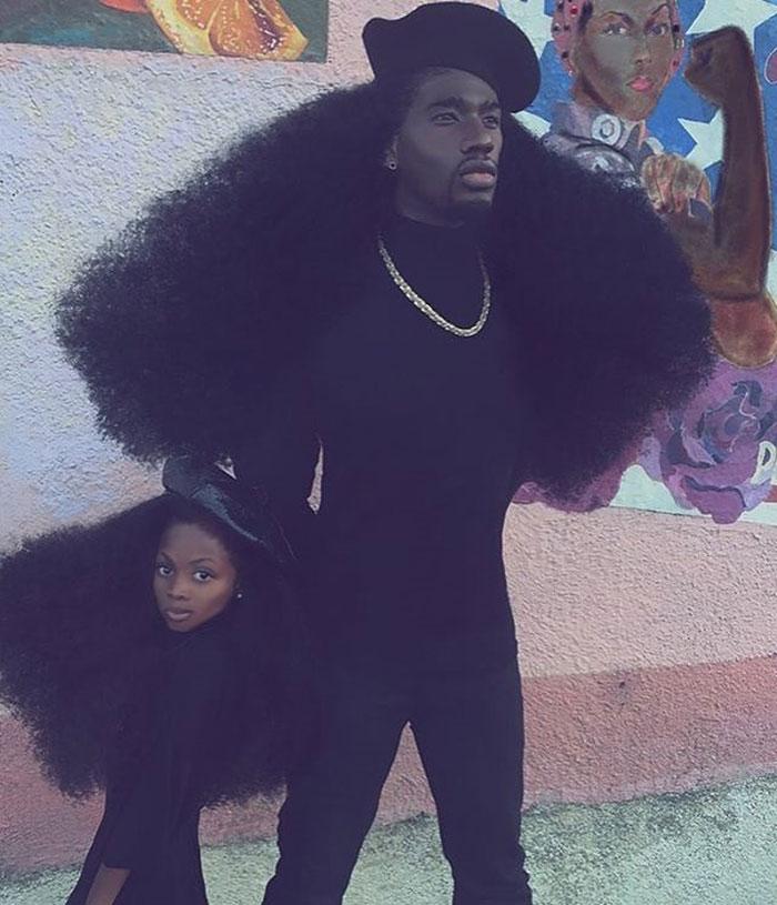 Отец и дочь с невероятными прическами-3
