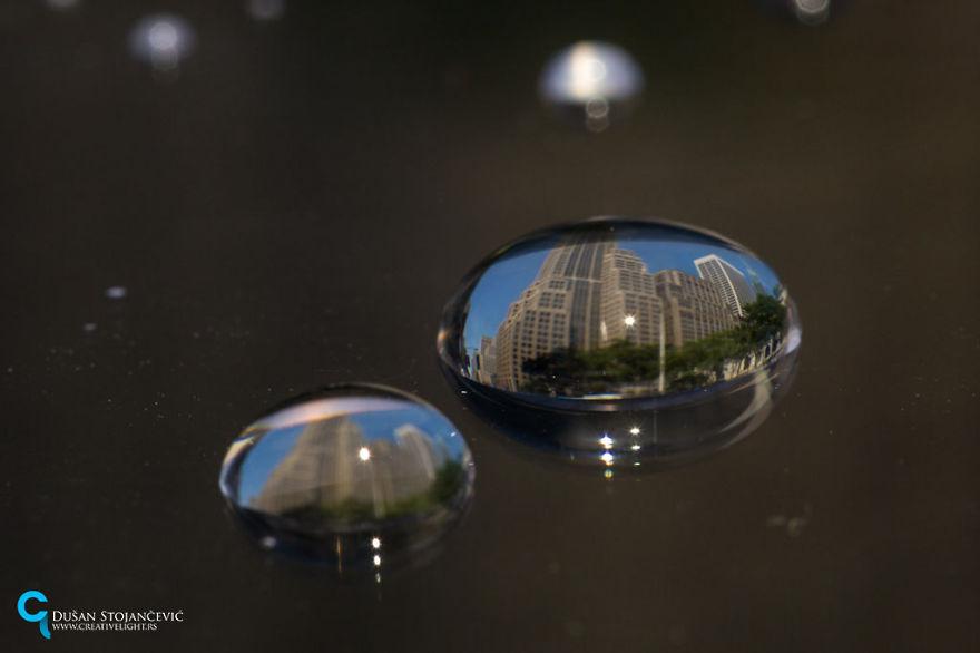 Фото городов в капле воды-11
