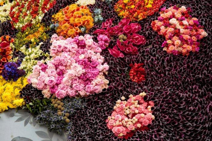 Картина из тысячи живых цветов-4