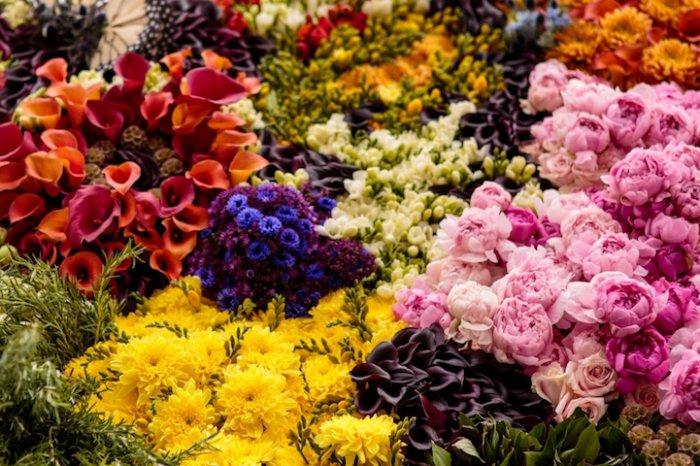 Картина из живых цветов-5