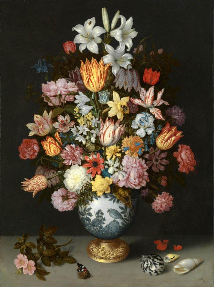 Картина из тысячи живых цветов-6