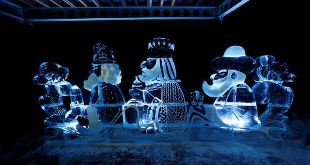 Фестиваль ледяных скульптур в Германии