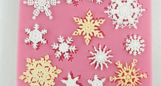 Ажурные съедобные снежинки