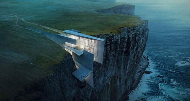 концепция дома на скалах от Alex Hogrefe