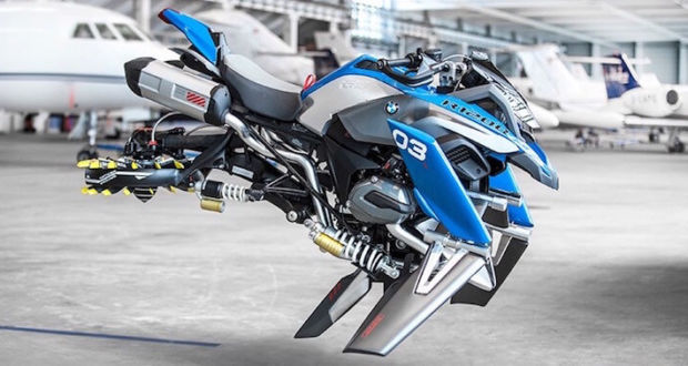 Футуристический мотоцикл BMW, созданный на основе модели LEGO