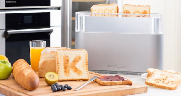 Умный тостер, способный печатать на хлебных ломтиках