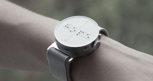 Первые в мире смарт-часы со шрифтом Брайля