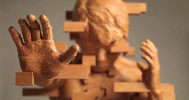 Динамические деревянные скульптуры Hsu Tung Han
