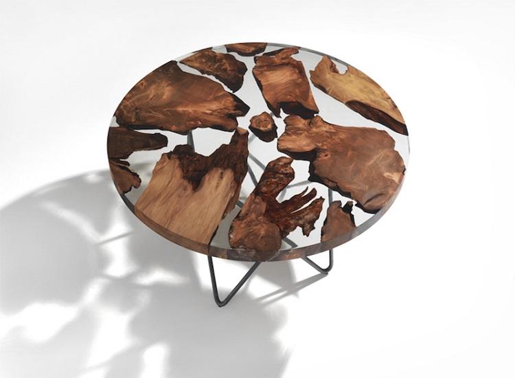 Стол из 50,000-летнего дерева каури от Riva 1920