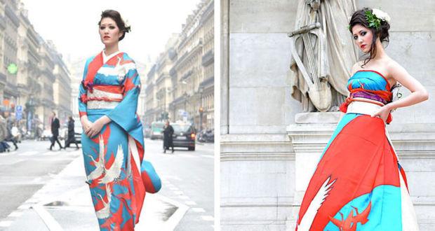 Японские дизайнеры превратили кимоно в потрясающие свадебные платья в западном стиле