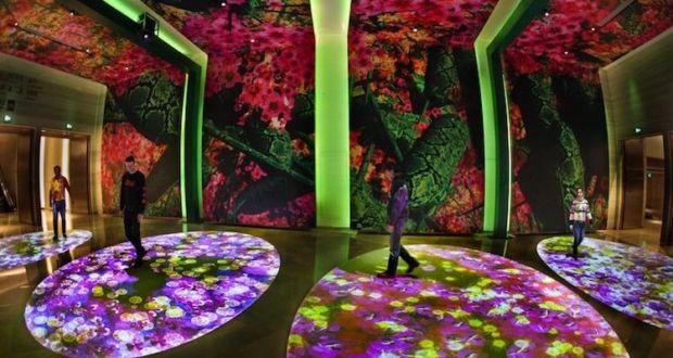 Красочные проекции Мигель Шевалье