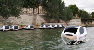 Парящее в воздухе водное такси SeaBubble от Anders Bringdal и Alain Thébault