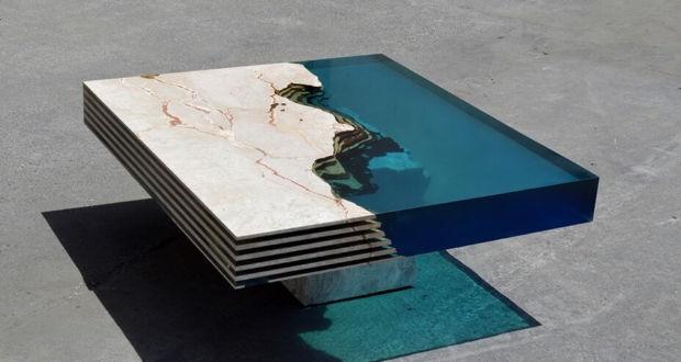 Мраморный стол HAMILTON 23 от Alexandre Chapelin
