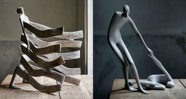 Сюрреалистические бронзовые скульптуры, воспевающие красоту человеческого тела и чувств, от Изабель Мирамонтес