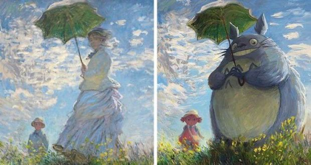 Художник Lothlenan превращает классические картины в часть современной поп-культуры