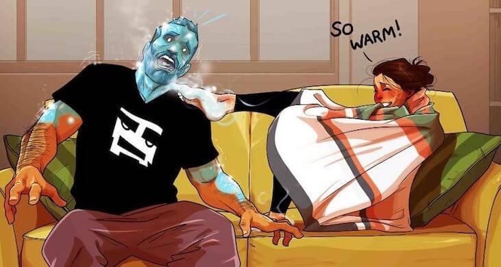Комические иллюстрации Yehuda Adi Devir, демонстрирующие забавные моменты из семейной жизни