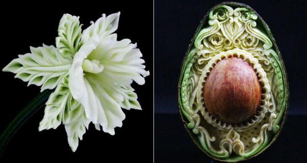 Карвинг из фруктов и овощей от Daniele Barresi