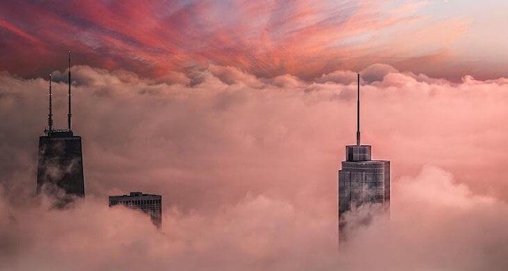 Аэрофотосъёмка Чикаго от фотографа-самоучки Michael T. Meyers