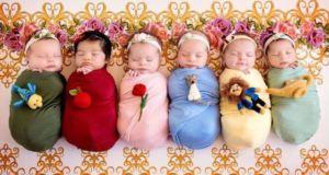 Милые фотографии новорожденных в образах принцесс Disney от фотографа Karen Marie