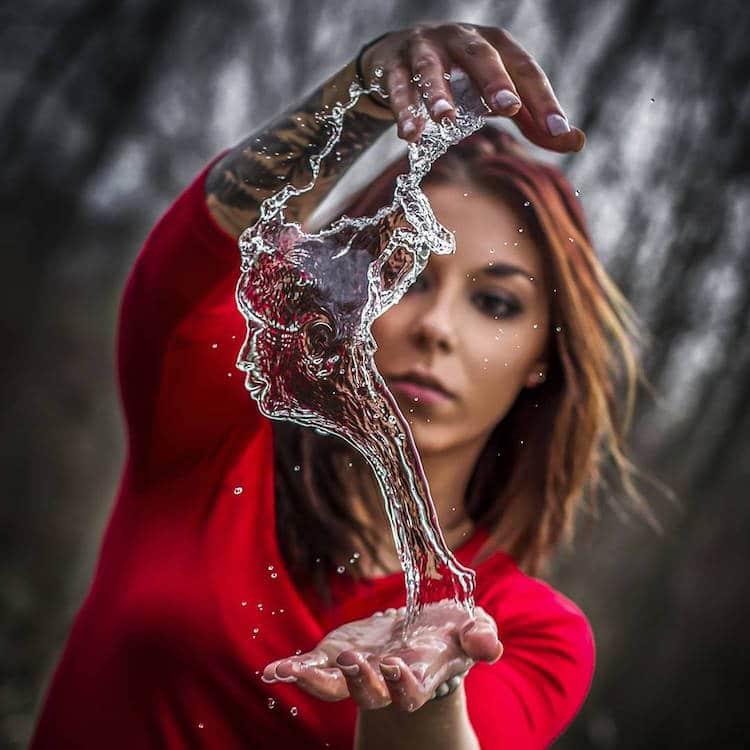 Скульптуры из воды от фотографа фотографа Kyle Re Creative