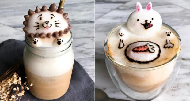 Объемные фигуры из кофейной пены художницы Daphne Tan (Дафна Тан)